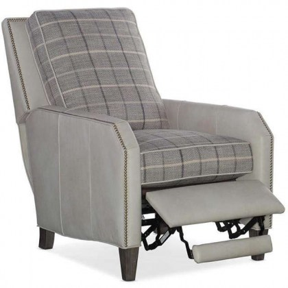Leather and Fabric Recliner