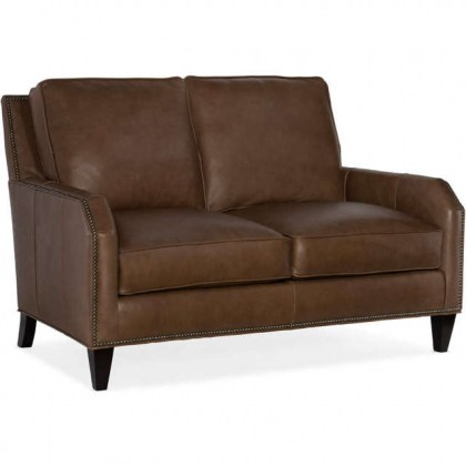 Carol Leather Loveseat