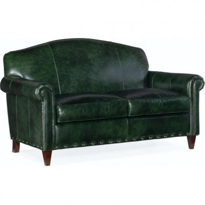 Leather Settee - Made in the USA