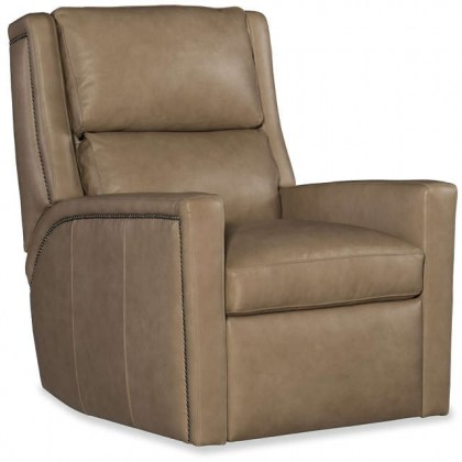 Norman Leather Power Swivel Glider Recliner