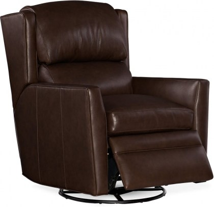 Samuel Leather Wall Hugger Power Reclining with Adjustable Headrest