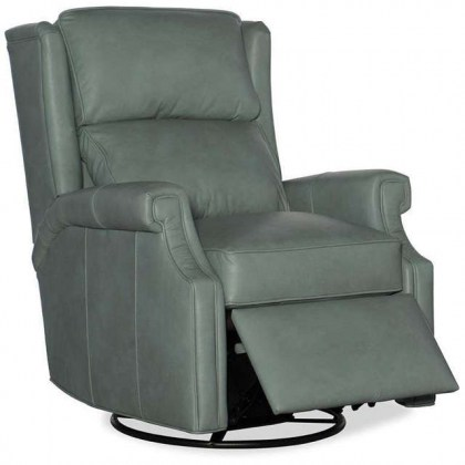 Gallaway Leather Swivel Glider Power Recliner
