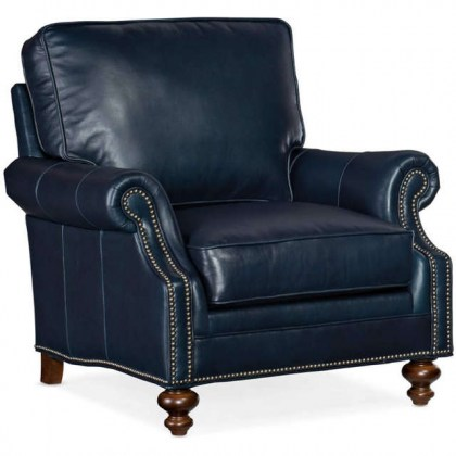 West Haven Leather Chair and Ottoman