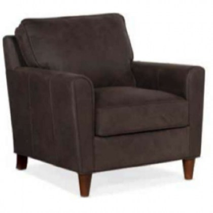 Manning Leather Chair and Ottoman