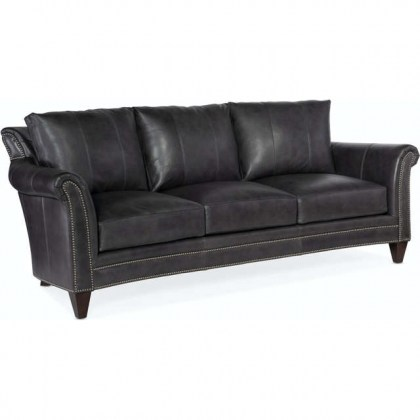 Richardson Leather Sofa Grey - In Stock Leather Furniture