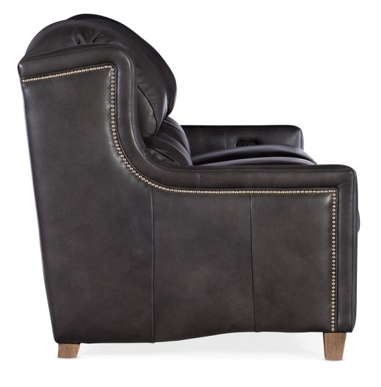 Judy Leather Reclining Sofa With Articulating Headrest
