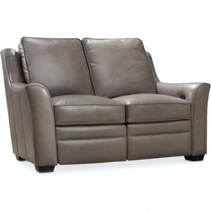 Flanders Leather Power Reclining Loveseat