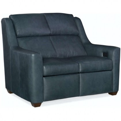 Wilshire Leather Power Reclining Loveseat with Articulating Headrest
