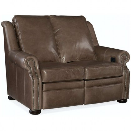 Paddington Leather Power Reclining Loveseat With Articulating Headrest