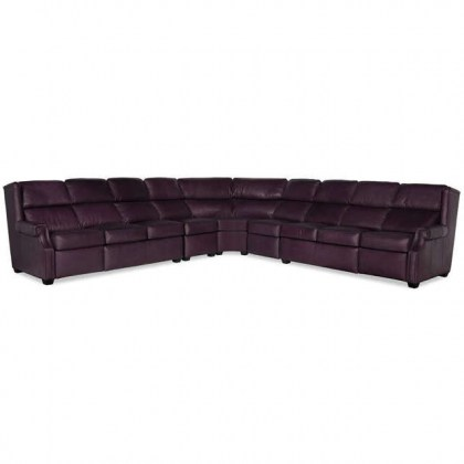 Norfolk Leather Power Reclining Sectional