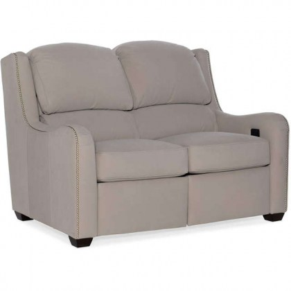 Oakley Leather Power Reclining Loveseat With Articulating Headrest