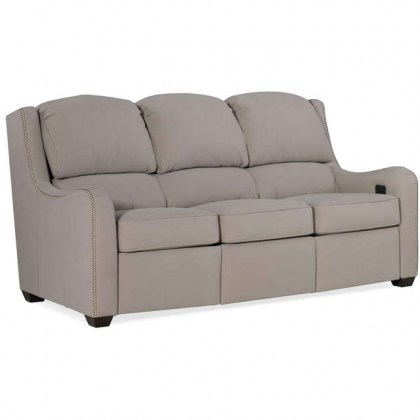 Oakley Leather Power Reclining Sofa With Articulating Headrest