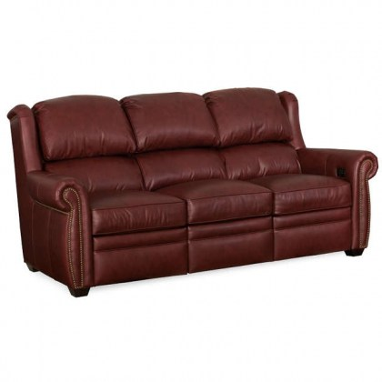 Royce Leather Power Reclining Sofa With Articulating Headrest
