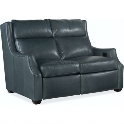 Conover Leather Reclining Loveseat With Articulating Headrest