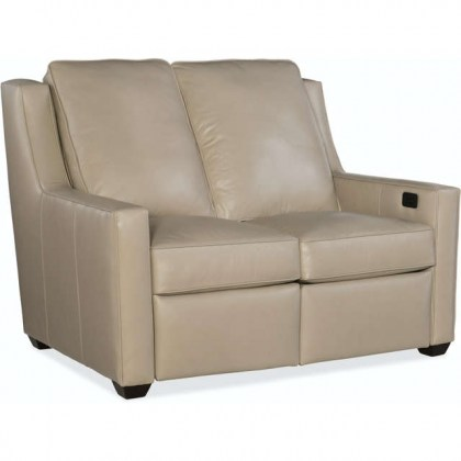 Westmont Leather Power Reclining Loveseat With Adjustable Headrest