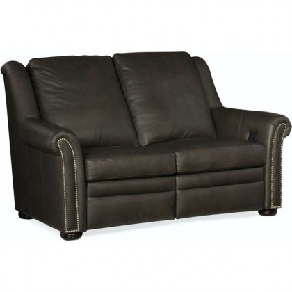 Patriot Leather Power Reclining Loveseat With Articulating Headrest