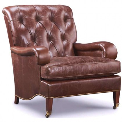 Saratoga Leather Tufted Chair