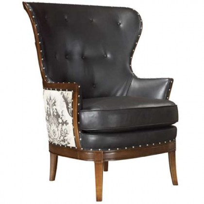 Winnifred Leather Wing Back Chair