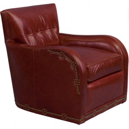Natchez Leather Swivel Chair
