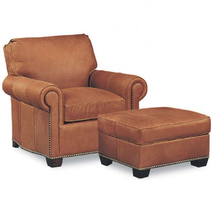 Robinson Leather Chair and Ottoman