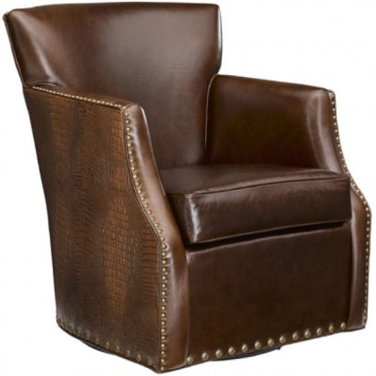 Tate Leather Swivel Chair