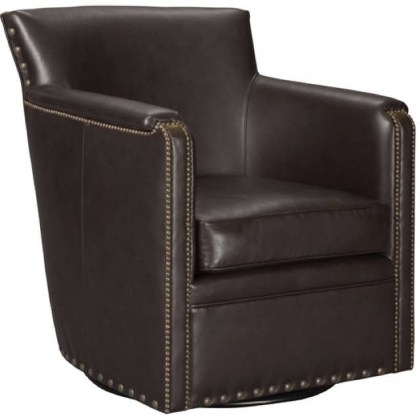 Silver Spring Leather Swivel Chair