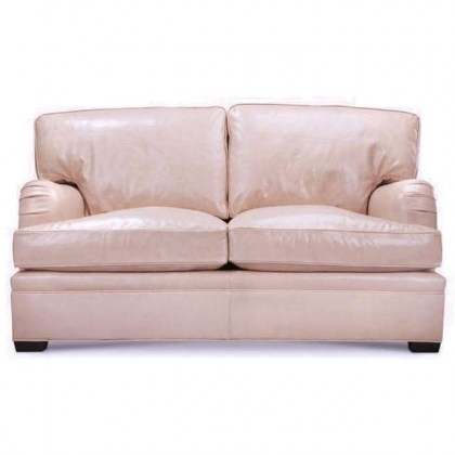 Hughs Leather Loveseat