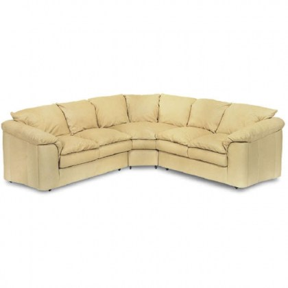 Pillow Top Leather Sectional