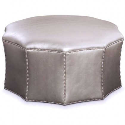 Ying Leather Cocktail Ottoman