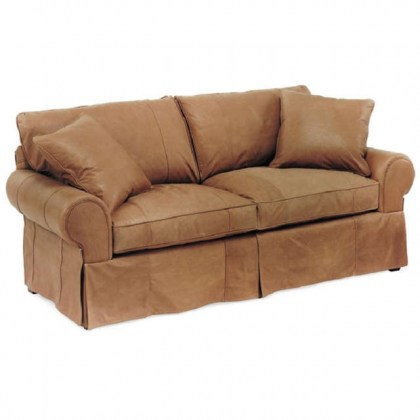 Slip Cover Leather Sofa