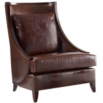 Halsey Leather Accent Chair