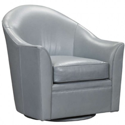 Boathouse Leather Swivel Chair