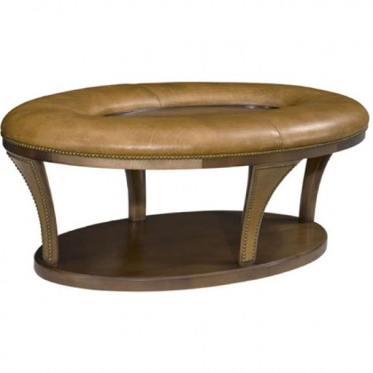 Speedway Leather Ottoman
