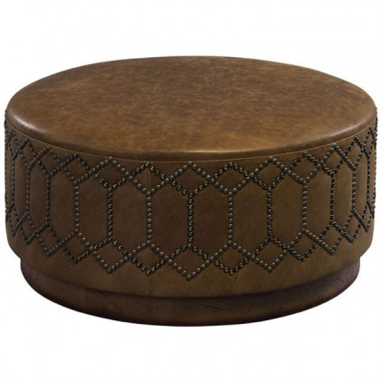 Brigham Leather Cocktail Ottoman
