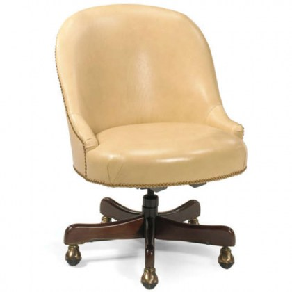 Operators Leather Swivel Chair