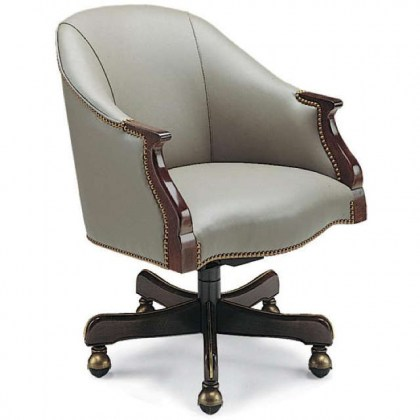 Potter Leather Swivel Tilt Chair