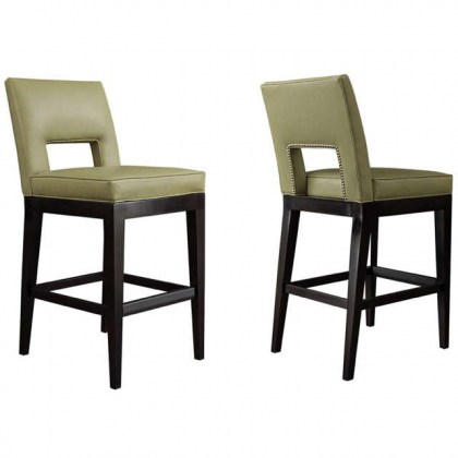 Emeril Leather Bar Stool