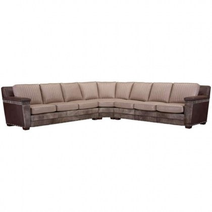 Dewey Leather Sectional