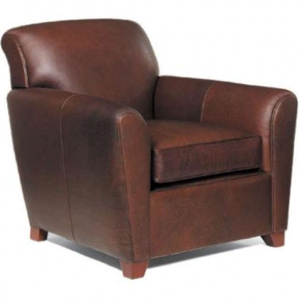 Paloma Leather Chair and Ottoman