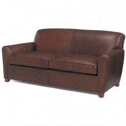 Paloma Leather Two Cushion Sofa