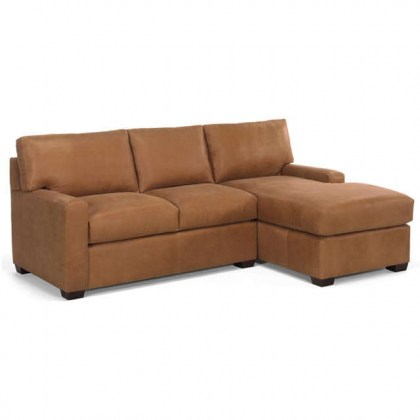 Bayview Leather Sofa With Chaise