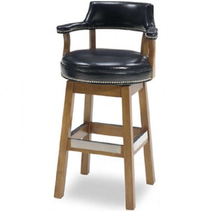 Reford Leather Bar Stool