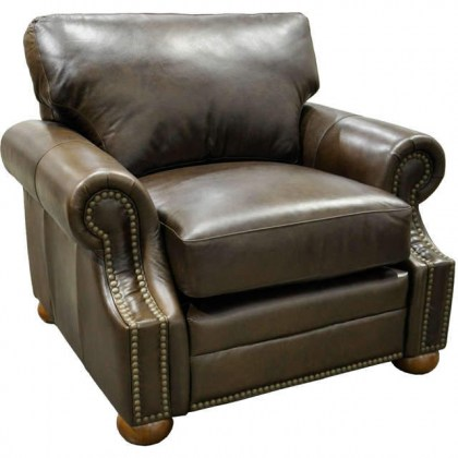 Bennett Leather Chair and Ottoman