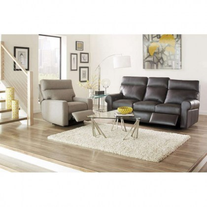 Brooklyn Leather Power Reclining Sofa With Adjustable Headrest