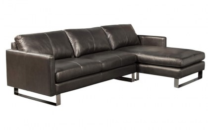 Concord Leather Sofa with Chaise