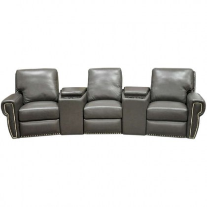 Dakota Leather Reclining Home Theater Seating