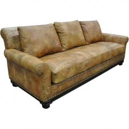 Echo Leather sofa with bench Seat