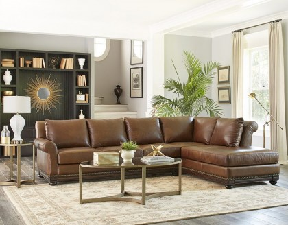 Omnia Leather Sectional