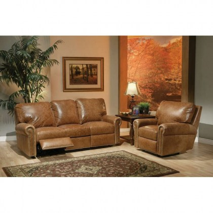 Fairfield Leather Reclining Sofa