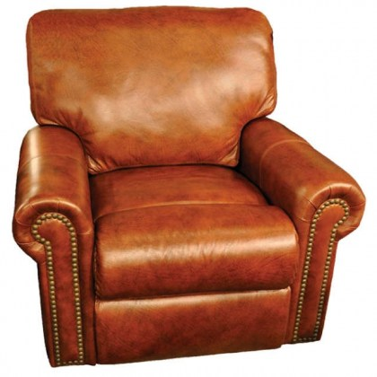 Fairmont Leather Swivel Glider Recliner